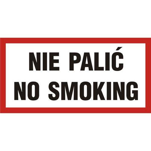 Nie palić-No smoking 20 X 40 nieświec. płyta sztywna PCV