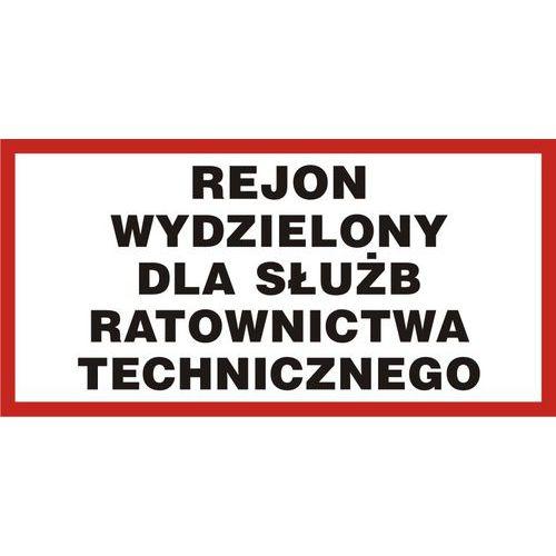 Rejon wydzielony dla służb ratownictwa technicznego 20 X 40 nieświec. płyta sztywna PCV