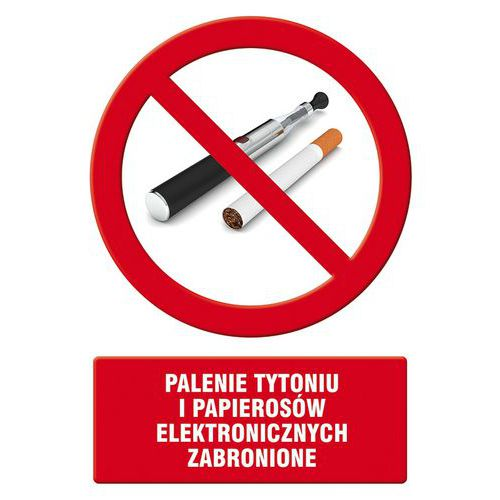 Palenie tytoniu i papierosów elektronicznych zabronione
