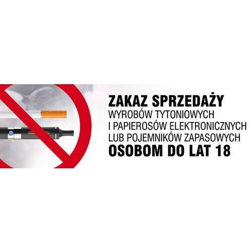 Zakaz sprzedaży wyrobów tytoniowych i papierosów elektronicznych lub pojemników zapasowych osobom do lat 18 10