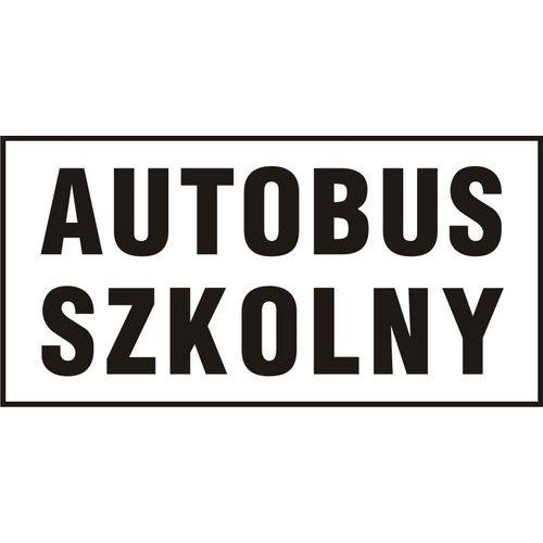 Autobus szkolny 25 X 50 nieświec. płyta sztywna PCV