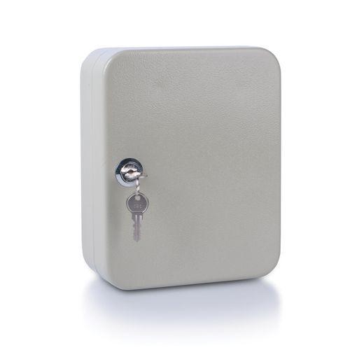 Szafka na klucze DONAU, na 20 kluczy, 200x160x80mm, szara