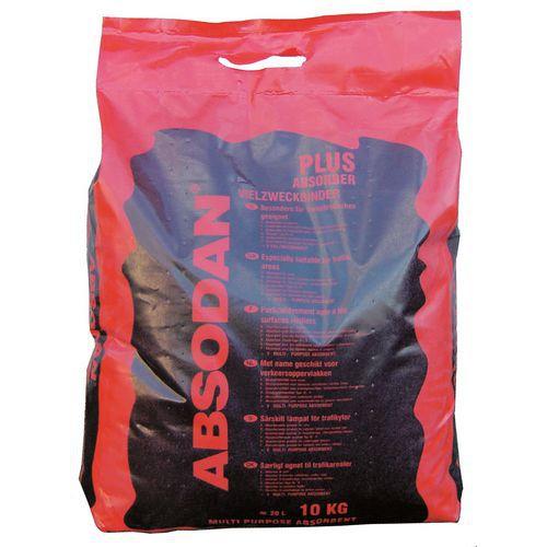 Sorbent sypki Absodan, pojemność wchłaniania 13 l, opakowanie 10 kg