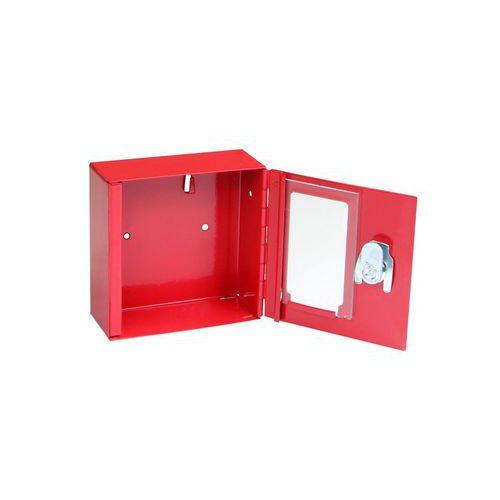 Metalowa szafka przeciwpożarowa z szybą