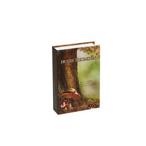 Metalowa skrzynka zabezpieczająca w kształcie książki Hugh