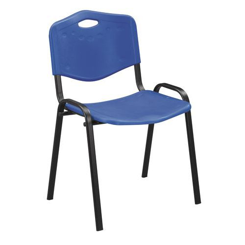 Plastikowe krzesła do jadalni Manutan ISO