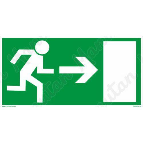 Fotoluminescencyjne tablice ewakuacyjne - Wyjście ewakuacyjne na prawo