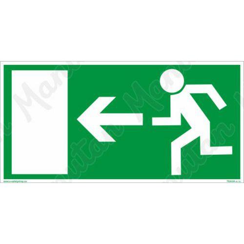 Fotoluminescencyjne tablice ewakuacyjne - Wyjście ewakuacyjne na lewo