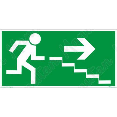 Fotoluminescencyjne tablice ewakuacyjne - Schody ewakuacyjne na prawo na dole