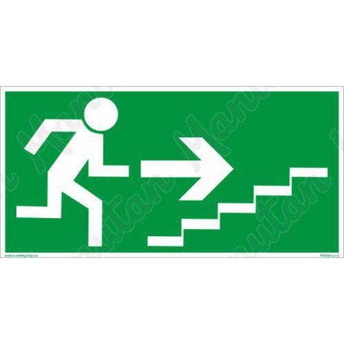Fotoluminescencyjne tablice ewakuacyjne - Schody ewakuacyjne na prawo na górze