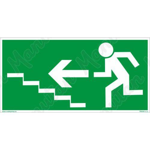 Fotoluminescencyjne tablice ewakuacyjne - Schody ewakuacyjne na lewo na górze