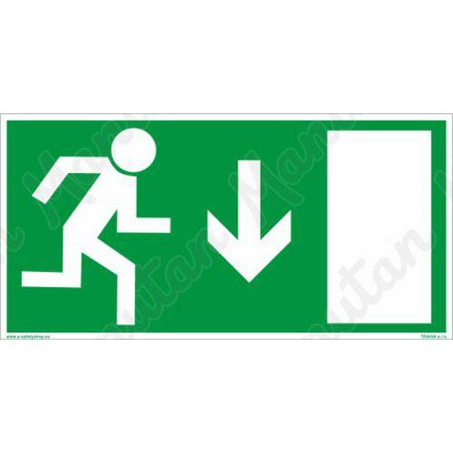 Fotoluminescencyjne tablice ewakuacyjne - Wyjście ewakuacyjne nad drzwiami