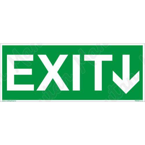 Fotoluminescencyjne tablice ewakuacyjne - EXIT, ze strzałką kierunkową