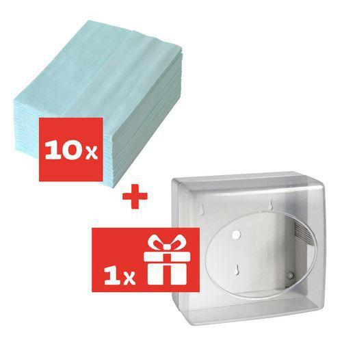 Tekstylne czyściwo przemysłowe TEMCA Profix escon 1-warstwowe 50 listków, 10 szt. + Pojemnik GRATIS