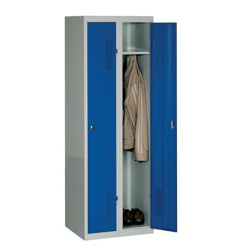 Modułowe szafki ubraniowe DURO MONT, 2 przedziałowe