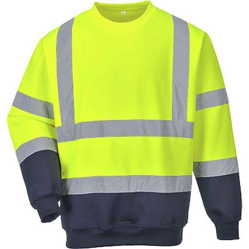 Dwukolorowa bluza ostrzegawcza, niebieski/żółty