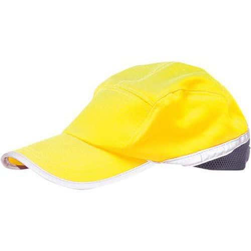 Czapka baseballowa odblaskowa, niebieski/żółty