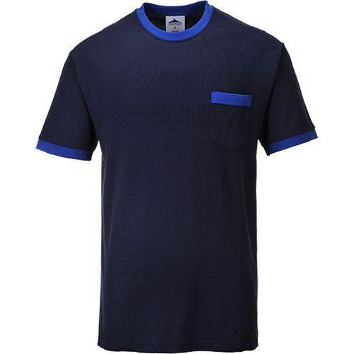 T-shirt kontrastowy Portwest Texo, niebieski