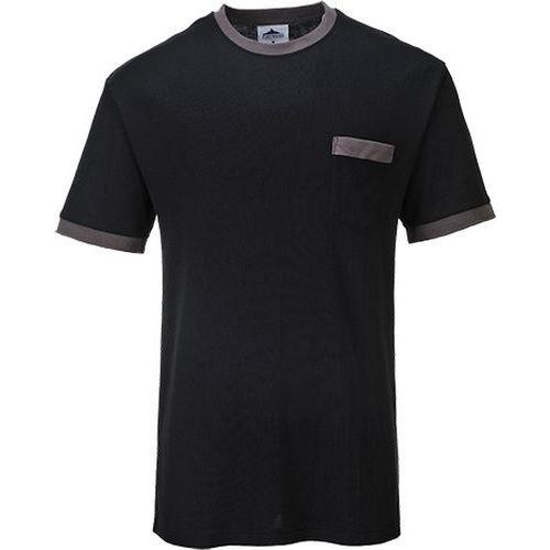 T-shirt kontrastowy Portwest Texo, czarny