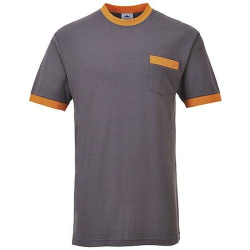 T-shirt kontrastowy Portwest Texo, szary