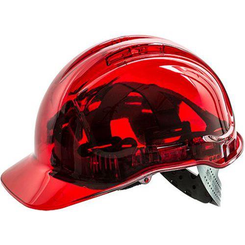 Przemysłowy hełm ochronny Peak View Plus, czerwony