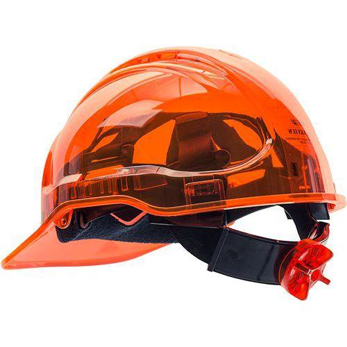 Hełm Peak View Ratchet z regulacją pokrętłem, pomarańczowy
