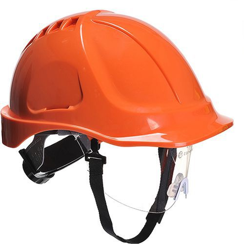 Hełm Endurance Plus z wizjerką, pomarańczowy