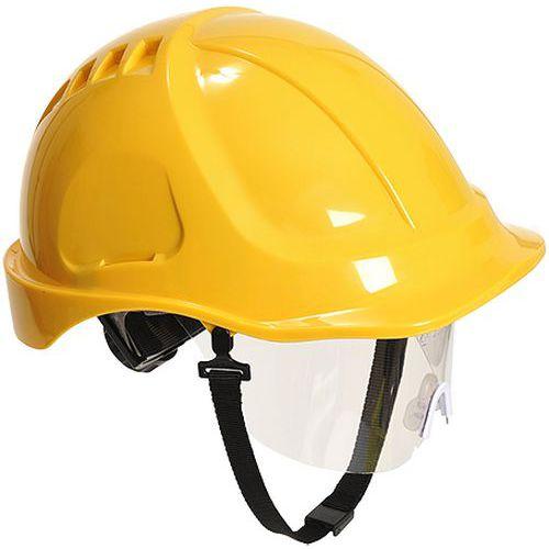 Hełm Endurance Plus z wizjerką, żółty