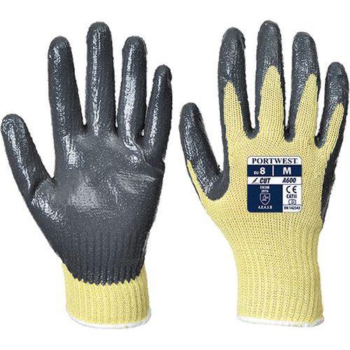 Rękawica nitrylowa antyprzecięciowa poziom 3, szary/żółty
