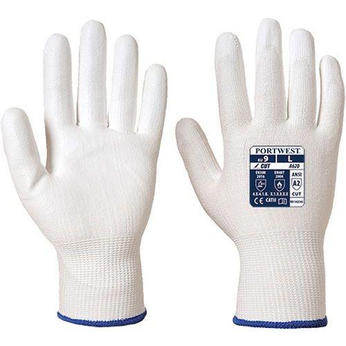 Rękawica antyprzecięciowa LR powlekana PU, biały