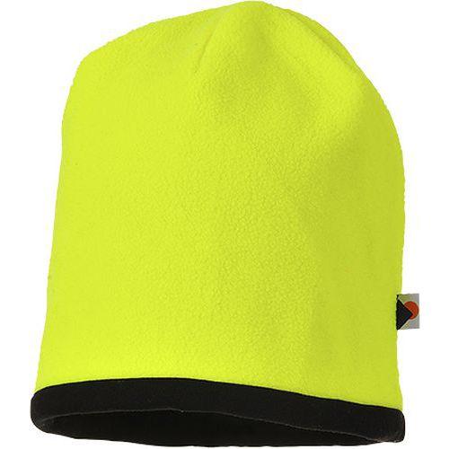 Odwracalna czapka ostrzegawcza Beanie, czarny/żółty