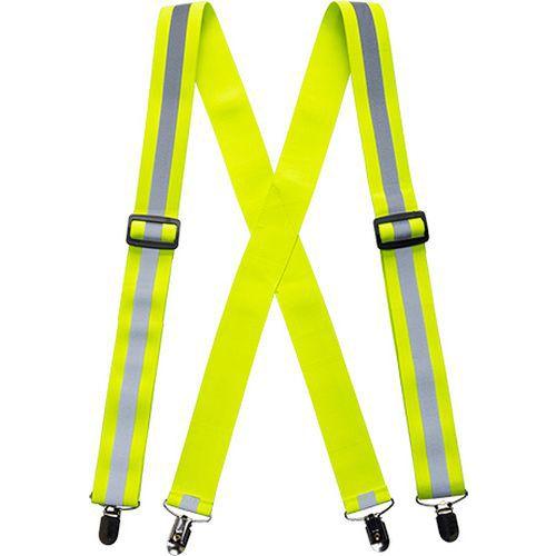 Szelki do spodni w kolorze ostrzegawczym, żółty
