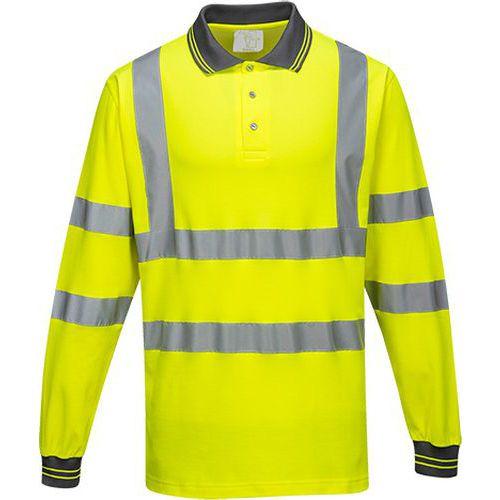 Koszulka polo ostrzegawcza Cotton Comfort z długimi rękawami, żółty
