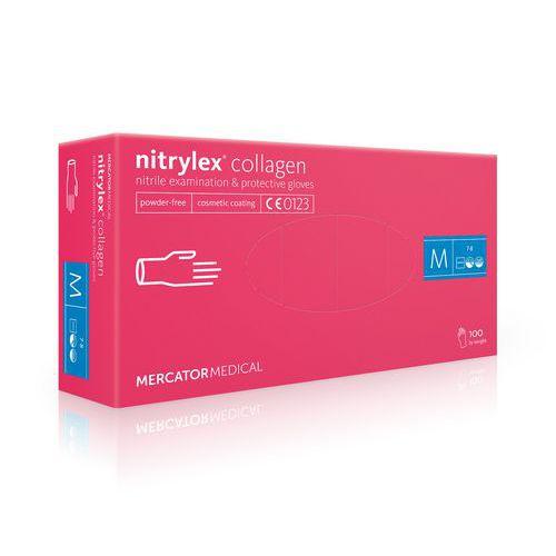 Rękawice diagnostyczne Nitrylex Collagen PF