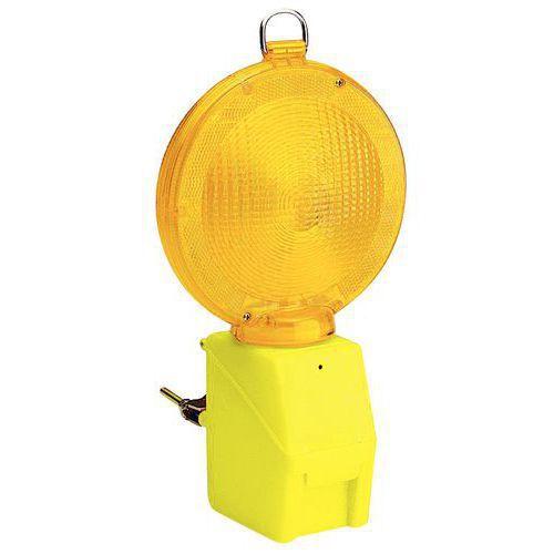 Lampa drogowa ostrzegawcza, żółta